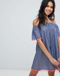 anmol-anmol-off-shoulder-chambray-beach-dress-with-pom-pom-trim-SCMgMpbcS2Swxco9pqB4r-300
