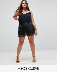 asos-curve-asos-curve-shorts-in-metallic-with-shirred-waistband-L6Xq9jcxc2E34M86nXKQZ-300