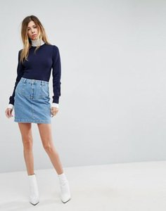 asos-asos-denim-skirt-with-waist-seam-detail-in-midwash-blue-9fPaNu6Gq25TBEhEex8b5-300