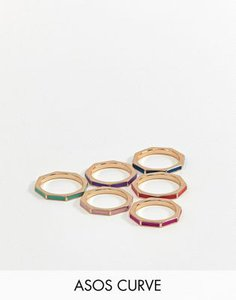 asos-curve-asos-design-curve-exclusive-pack-of-6-rings-in-octagon-shape-and-colour-pop-xaVvcFePM2bXTjFWdQqN6-300
