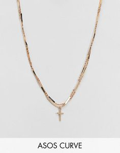 asos-curve-asos-design-curve-multirow-necklace-with-vintage-style-cross-and-twist-chain-in-gold-ctXqjDcBh2E3gM8x2XRv2-300
