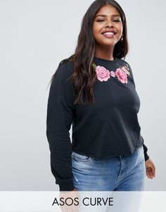 asos-curve-asos-design-curve-sweatshirt-with-floral-embroidery-in-washed-black-7wMQ8xmTS2SwvcqLbqjr6-300