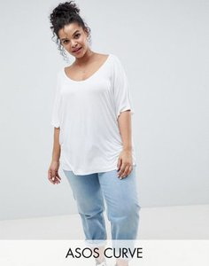 asos-curve-asos-design-curve-t-shirt-with-drapey-batwing-sleeve-in-white-mxYFBGpoK2rZ4y1rFdCqK-300