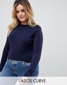 asos-curve-asos-design-curve-ultimate-top-with-long-sleeve-and-crew-neck-in-navy-VAc2mGKPW27aQDpqaszCA-300