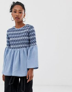 asos-design-asos-design-denim-smock-top-with-sheering-detail-WoU3dpd8g2y1d7MDHH84p-300