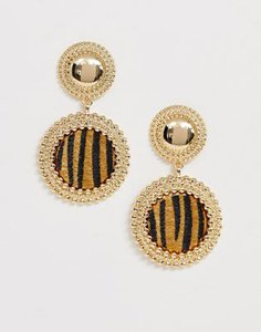 asos-design-asos-design-earrings-with-engraved-stud-and-tiger-skin-drop-in-gold-tone-fjaPsABmA2V49buoqkprJ-300