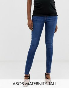asos-maternity-asos-design-maternity-tall-ridley-high-waist-skinny-jeans-in-dark-stone-wash-with-raw-hem-with-under-the-bump-band-trUX67v1V2y1g7NhRHUSN-300