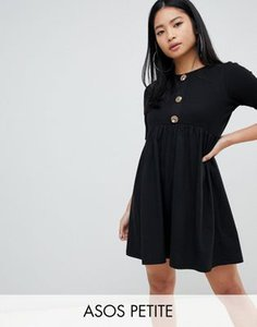 asos-petite-asos-design-petite-mixed-fabric-mini-smock-dress-with-faux-horn-button-yPcHUkf8d27anDoCWsttF-300