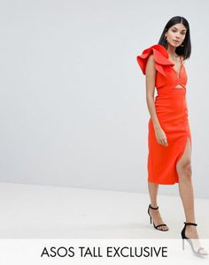 asos-tall-asos-design-tall-frill-one-shoulder-scuba-bodycon-dress-with-midriff-G6VBjE1uT2bXHjFJFQdZL-300