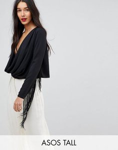 asos-tall-asos-design-tall-plunge-batwing-top-with-fringe-sleeve-dGadxNbvV2V4Nbvxdka1n-300