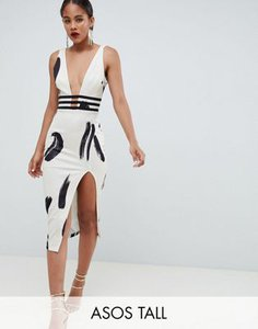 asos-tall-asos-design-tall-smudge-print-plunge-bodycon-midi-dress-wCSssUquP2LVSVVzXBCpe-300