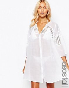 asos-tall-asos-design-tall-v-neck-corded-lace-button-front-smock-beach-dress-1Thp9FpJ1RJSP3gnW5x-300
