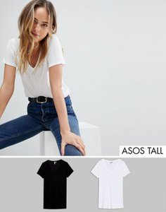 asos-tall-asos-design-tall-v-neck-swing-t-shirt-2-pack-save-c9YESEs3c2rZGy38ZdD5Q-300
