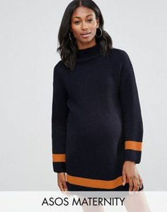 asos-maternity-asos-maternity-jumper-dress-with-funnel-neck-and-tipping-QBNRMGiJvRzS93Lnt8r-300