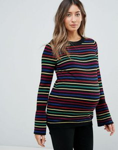 asos-maternity-asos-maternity-jumper-with-rainbow-stripe-and-fluted-sleeve-s3YEfsLMW2rZMy2qKdgL4-300
