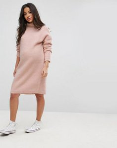 asos-maternity-asos-maternity-knitted-jumper-dress-in-texture-stitch-mBPpazya525ToEhJLxWmH-300