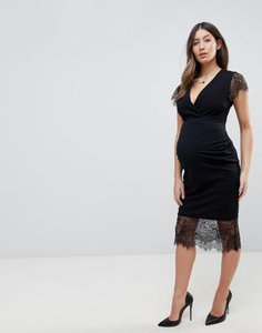 asos-maternity-asos-maternity-pencil-dress-with-v-neck-and-lace-sleeves-and-hem-CnSNBZ5Dn2LVrVVFrBPCU-300