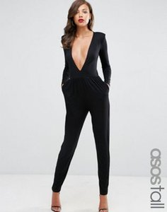 asos-tall-asos-tall-jersey-jumpsuit-with-extreme-plunge-worJuvvJYQLSt3yncpT-300
