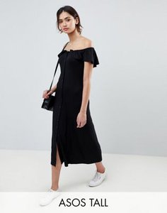 asos-tall-asos-tall-off-shoulder-button-through-midi-sundress-j1VgL4FJu2bXRjEmmQsBn-300