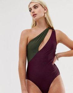 boohoo-boohoo-asymmetric-cut-out-swimsuit-in-aubergine-and-khaki-owSNm35Qt2LVrVVA5BVia-300