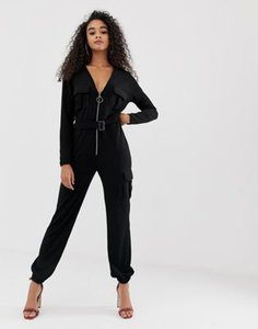 boohoo-boohoo-knitted-zip-through-utility-jumpsuit-with-belt-in-black-wZXqFc5ca2E3SM7zkXxS2-300