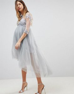 chi-chi-london-maternity-chi-chi-london-maternity-high-neck-tulle-midi-skater-dress-with-lace-sleeves-and-high-low-hem-q5VS9yMWc2bXMjEmHQUz4-300