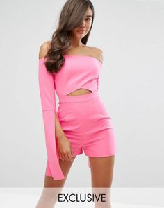 dark-pink-dark-pink-cut-out-playsuit-with-oversize-sleeves-rzMu9H2em2SwRcpDBqrys-300