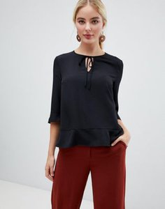 french-connection-french-connection-v-neck-blouse-with-sateen-piping-V1Mujm1so2Sw7cpi3qyVc-300