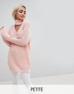 glamorous-petite-glamorous-petite-relaxed-jumper-with-cut-out-high-neck-k8PKxAkfg25TzEiDTxH9F-300