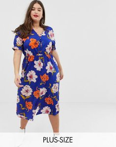 influence-plus-influence-plus-floral-midi-dress-with-shirred-sleeves-3pcHF7Cok27aoDpZisReD-300