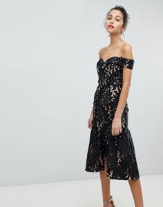 jarlo-jarlo-all-over-cutwork-lace-bardot-midi-prom-dress-with-ruffle-hem-KYVgL4Foq2bXMjE3DQsBv-300