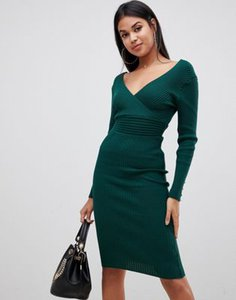lipsy-lipsy-plunge-neck-knitted-midi-dress-in-olive-green-trcYfqYRv27aTDog6sH5W-300