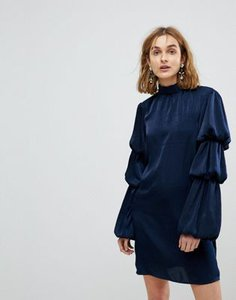 lost-ink-lost-ink-high-neck-shift-dress-with-tiered-ruffle-sleeves-grP4m5sNN25T7Ei7yxtxK-300