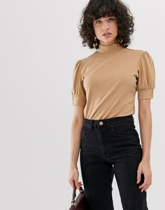 lost-ink-lost-ink-high-neck-top-with-puff-sleeve-in-rib-E3X5vJVxx2E3kM9V2Xp7s-300