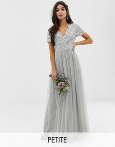 maya-petite-maya-petite-bridesmaid-v-neck-maxi-tulle-dress-with-tonal-delicate-sequins-in-soft-grey-jiScy8xi92LV9VVLZBstK-300