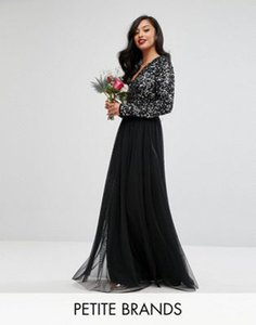 maya-petite-maya-petite-plunge-front-long-sleeve-maxi-dress-in-tonal-delicate-sequin-and-tulle-skirt-H2VRdatbj2bX1jF8XQxU5-300