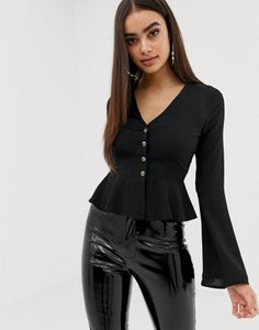 missguided-missguided-button-through-wide-sleeve-peplum-blouse-in-black-L9UGgNZtL2y1r7PXdHd1X-300