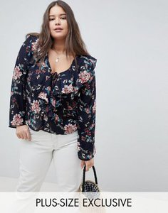 missguided-plus-missguided-plus-exclusive-plus-floral-print-ruffle-front-blouse-bgP44qrTQ25TNEi4XxxDi-300