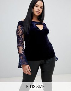 missguided-plus-missguided-plus-lace-sleeve-velvet-bardot-top-in-navy-LqadYsa7e2V48bvrgkgXy-300