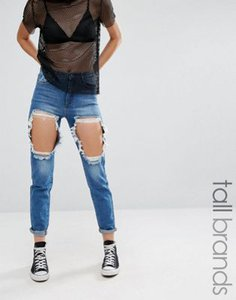 missguided-tall-missguided-tall-high-waisted-thigh-rip-skinny-jeans-ioHDq2TJWS6Ss3wnu6b-300