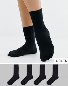 new-look-new-look-4-pack-plain-ankle-socks-in-black-TdPZkkcf225TrEi9rxmrf-300