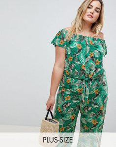 new-look-plus-new-look-curve-tropical-tie-front-bardot-top-in-green-hwU2CYgy22y1v7P1eHBZN-300