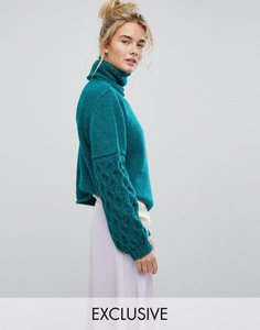 oneon-oneon-hand-knitted-textured-sleeve-jumper-gdVRQwQGs2bXLjGbJQVEV-300