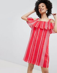 only-only-stripe-cold-shoulder-button-through-mini-dress-in-red-VHQDPthZ22hyFsbx24vxc-300
