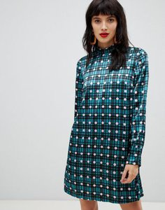 pieces-pieces-high-neck-check-polka-dot-shift-mini-dress-in-blue-PAc3HfnpL27aZDophsWhX-300