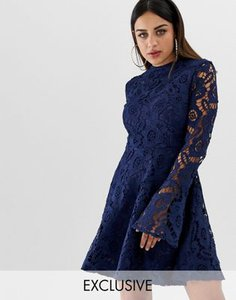 prettylittlething-prettylittlething-exclusive-lace-fluted-sleeve-skater-dress-in-navy-kRQDTzDKE2hyFscgU4Wyx-300