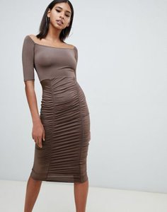 prettylittlething-prettylittlething-slinky-bardot-ruched-detail-midi-dress-in-chocolate-vVXaKVFaW2E3rM9WAXaVD-300