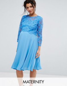 queen-bee-queen-bee-lace-overlay-midi-swing-dress-with-3-4-sleeve-diU2b3hot2y1B7PNkH535-300