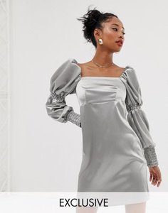reclaimed-vintage-reclaimed-vintage-inspired-mini-dress-with-puff-and-ruched-sleeve-detail-KSPZkkc9325TNEiyFxmre-300