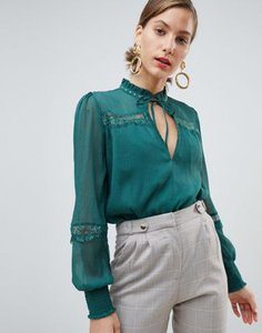 river-island-river-island-lace-insert-blouse-in-green-yhco6au3227aHDnUFs8Wx-300